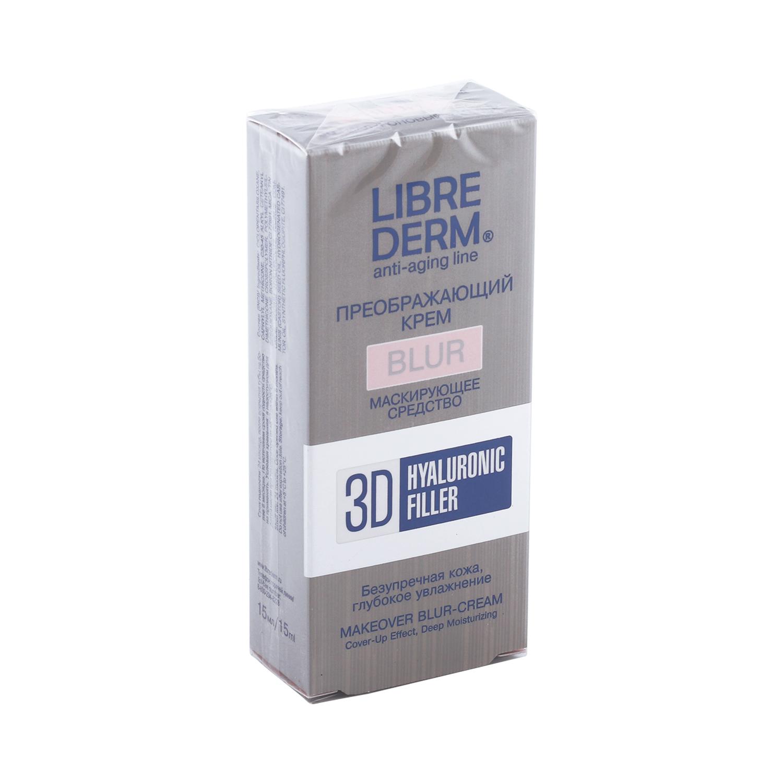 Фото - Либридерм крем-блур д/лица преображающий гиалуроновый 3Д филлер 15мл преображающий крем для лица 3d filler makeover blur cream 15мл