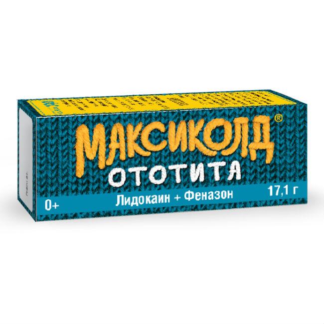 Максиколд Ототита капли ушные 1%+4% 17,1г
