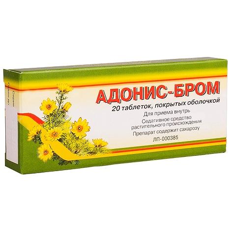 Адонис-бром таб.п/о №20
